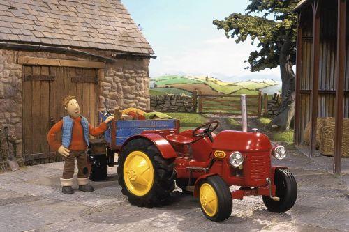 Kleiner roter traktor kika